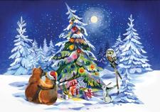 Рисунок для новогодней открытки