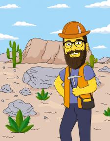 Симпсоны - геолог в пустыне