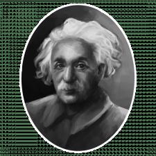 Портрет у ЧБ. Альберт Ейнштейн