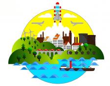 Иллюстрация  городка