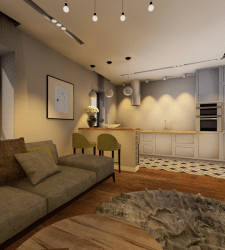 Дизайн-проект кухни-гостиной