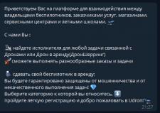 Маркетплейс по доставке дронами в Telegram