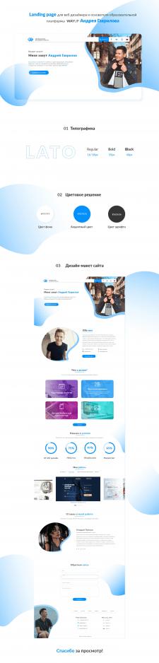 Landing page для дизайнера Андрея Гаврилова