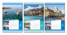 Перекидной календарь (фрагмент летних месяцев)