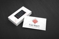 Визитка для салона красоты Foxy Beauty