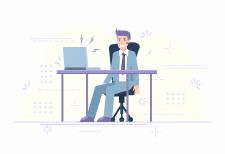 Современная иллюстрация  для сайта