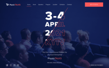 PhysioTalks Landing page