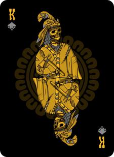Spielkarten Indians- Skelette12