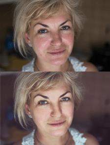 Естественная ретушь портрета, цветокоррекция