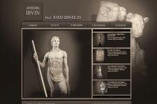 Дизайн сайта скульптурной мастерской