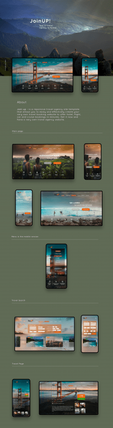 JoinUP! Tour & Travel agency template