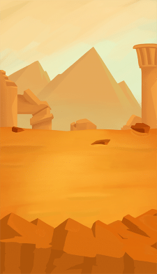 """Desert"" Illustration for mobile 2D game"