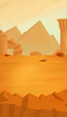 """""""Desert"""" Illustration for mobile 2D game"""