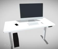 Моделирование стола (покрутить в 3D по ссылке)