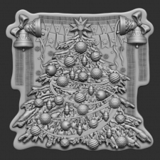 Christmas tree. 3d model for CNC