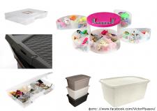 Пластиковые контейнеры для домашних нужд