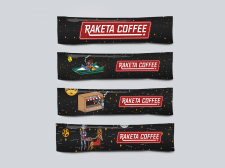 Разработка логотипа - Raketa Coffee
