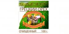 Дизайн этикетки для грецкого ореха очищенного