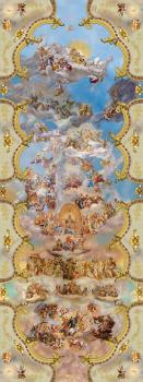 Композиция из фресок для огромного потолка