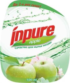 Inpure cредство для мытья посуды. Яблоко