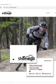 Логотип, визитка для блога о горных велосипедах