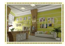 Интерьер. Приемная офиса  детской текстильной.....