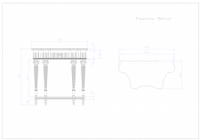 Создание чертежей консоли фирмы BelCor по фото