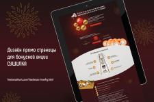 Дизайн промо страницы для бонусной акции СУШИЛКА