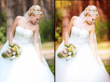 ретушь свадебних фото