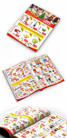 Дизайн каталога для сети супермаркетов Ledo