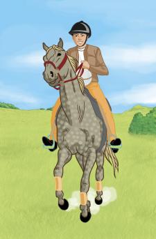 Horse ball иллюстрация для издательства