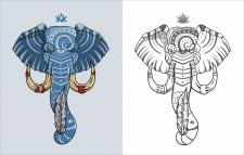 слон в векторе