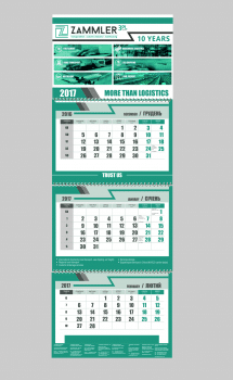 календарь настенный, индив. календарная сетка