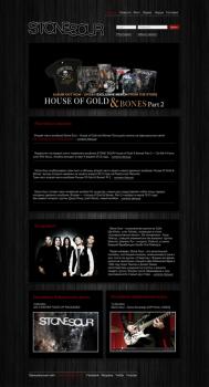 Дизайн сайта муз. группы Stone Sour