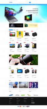 Дизайн сайта интернет-магазина цифровой техники