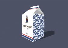 Упаковка для продукции корейской кухни (молоко)