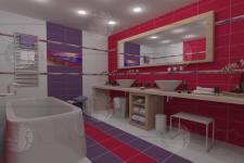 Визуализация ванной комнаты для сайта
