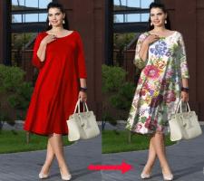 замена рисунка на платье