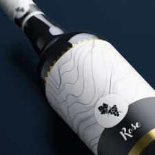 Винная этикетка для премиум вина