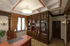 Коттедж в Алматы. Рабочий кабинет.