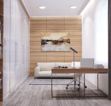 3D визуализация интерьера кабинета.