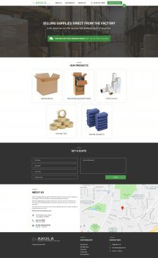 Landing page Akula Packing&Shippipng