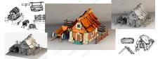 Иконка домик для игры эскиз и построение в 3d max