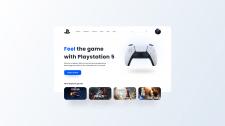 Концепт для сайта playstation