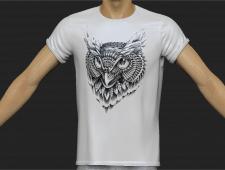 футболка с печатным рисунком