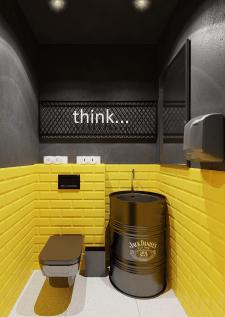 Дизайн санузла кофейни