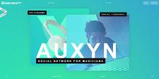 Auxyn - landing page: (html/css/js)