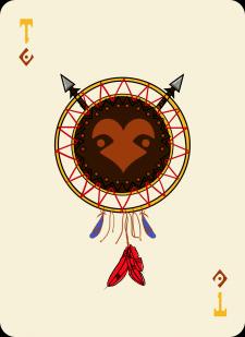 Spielkarten Indians- Farbig14