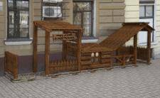 Проект входной части кафе