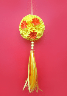 Цветочная Кусудама, без клея